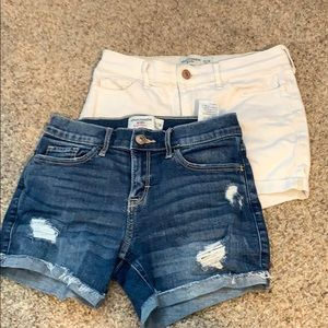 2 pairs of Abercrombie kids shorts